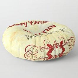 Merry Christmas ya filthy muggle Floor Pillow