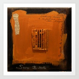 SAVE BABEL GOLD Art Print