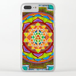 Intuition Sri Yantra II Clear iPhone Case