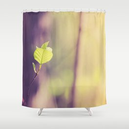 The Beginning Shower Curtain