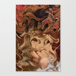 Sundae: two scoops of digital abstraction Canvas Print