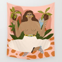 Crazy Plant Lady II Wall Tapestry