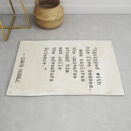 Edwin Hubble quote Rug