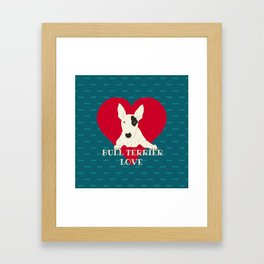 Bull Terrier Love Framed Art Print