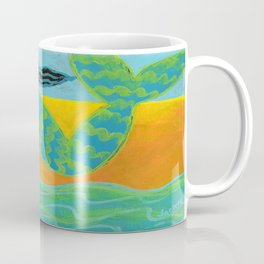 Mermaid on the Beach Abstract Painting Coffee Mug
