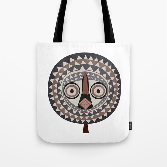 African Tribal Mask No. 2 Tote Bag