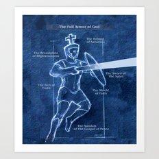 Full Armor of God - Warrior 3 Art Print