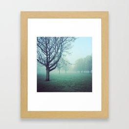 When the fog rolls in Framed Art Print