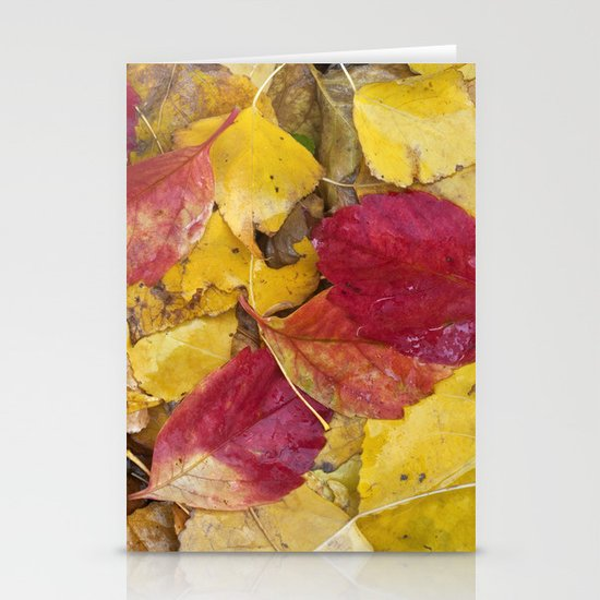 """Rain leaves"" Stationery Cards"