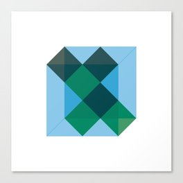 #406 Different states of cube – Geometry Daily Canvas Print