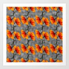 patterns - poppy Art Print