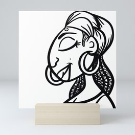 Peaceful Sista Mini Art Print