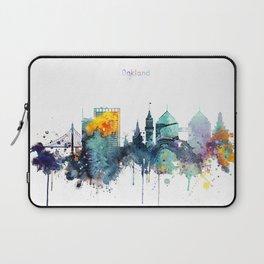 Oakland California Blue  skyline print Laptop Sleeve