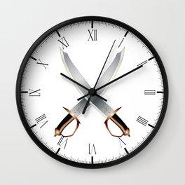 Crossed Cutlasses Wall Clock