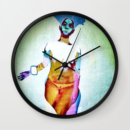 """Don't Listen to crappy music"" by Nacho dung. Wall Clock"