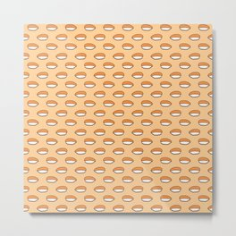 Nigiri - Sushi Rolls Pattern  Metal Print
