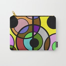 Dark Retro - Geometric, Abstract Pattern Carry-All Pouch
