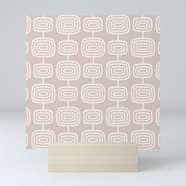 Mid Century Modern Atomic Rings Pattern 731 Sand Beige Mini Art Print