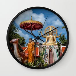 Big Buddha Temple Wall Clock
