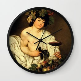 Carvaggio - Bacchus 1595 Wall Clock