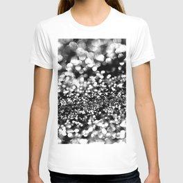 Black Lady Glitter #1 #shiny #decor #art #society6 T-shirt
