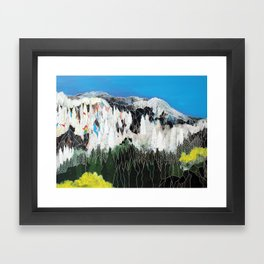 The Snow Line Framed Art Print