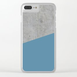 Concrete and Niagara Color Clear iPhone Case