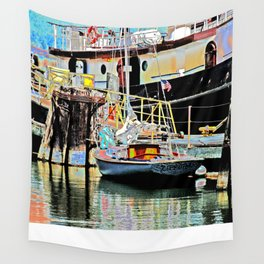 A Harbor view of Coos Bay Wall Tapestry