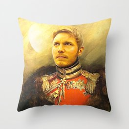 Starlord Guardians Of The Galaxy General Portrait Painting | Fan Art Throw Pillow