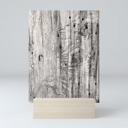 Vine Scars Wood Tree Trunk Pacific Northwest Rainforest Spooky Pattern Mini Art Print
