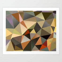 Field II - Abstract Art Low Poly Triangles Art Print