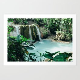 Waterfall in Mexico Art Print