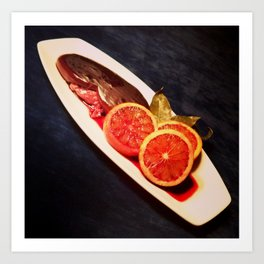 Kidney & Blood Oranges Art Print