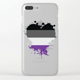 Asexual Heart Clear iPhone Case