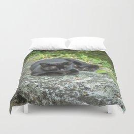 Sleeping Bagheera Duvet Cover
