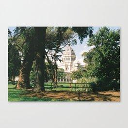 Peakin' through the gardens Canvas Print