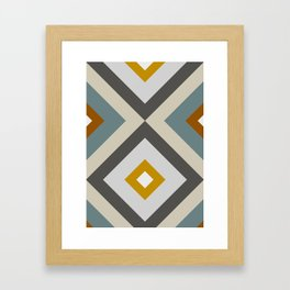 Mid West Geometric 04 Framed Art Print