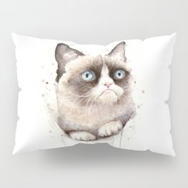 Angry Cat Pillow Sham