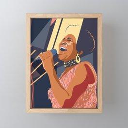 Aretha Franklin Portrait Framed Mini Art Print
