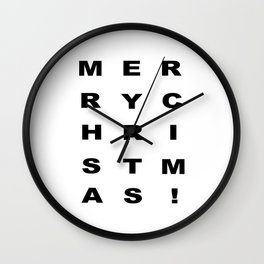Merry Chritmas Wall Clock