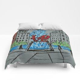 Little Love Park Sketch Comforters