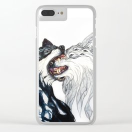 Dream Wolves Clear iPhone Case