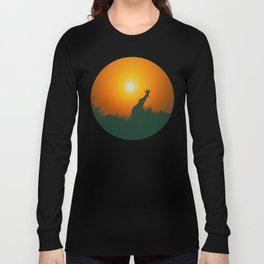Lonely Sunset Giraffe Long Sleeve T-shirt
