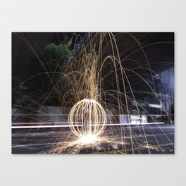 Fire In The Streets Canvas Print