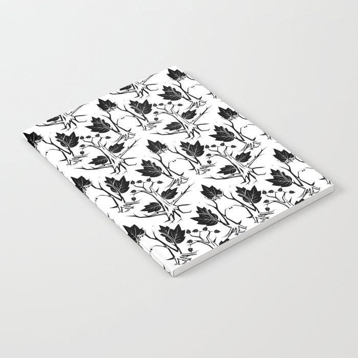 Pattern tree black Notebook