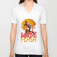 nba V-neck T-shirts featuring NBA Legends: Dwyane Wade by Akyanyme