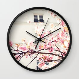 Cherry blossoms in Paris, Facades Wall Clock