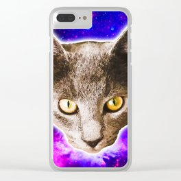 Cosmic Marvin Clear iPhone Case