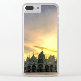 Piazza San Marco at Sunrise Clear iPhone Case