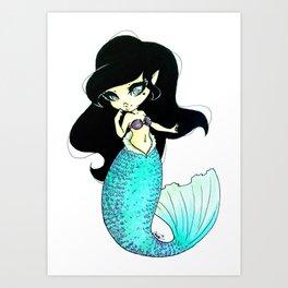Chibi Mermaid Art Print